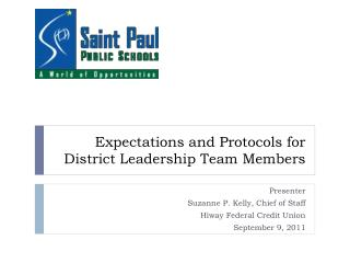 Expectations and Protocols for District Leadership Team Members