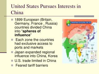 United States Pursues Interests in China