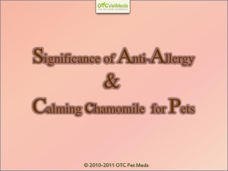 Significance of anti-allergy and calming chamomile tablets f