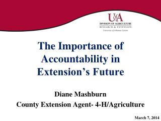 The Importance of Accountability in Extension's Future