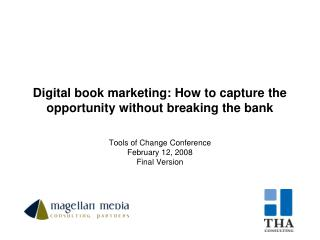 Digital book marketing: How to capture the opportunity without breaking the bank