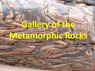 Gallery of the Metamorphic Rocks