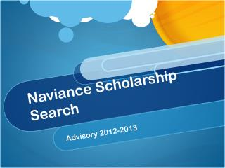 Naviance  Scholarship Search