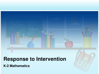 RTI Framework for Success: Research-Based Math Instruction  Intervention