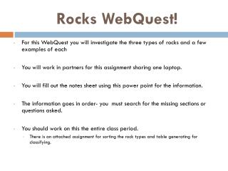 Rocks WebQuest!