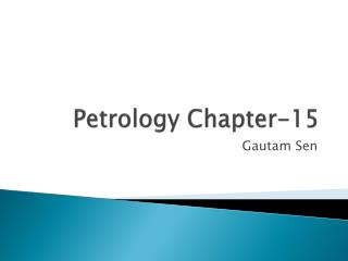 Petrology Chapter-15