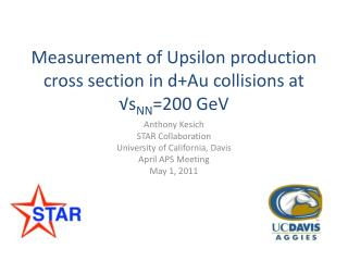 Measurement of Upsilon production cross section in  d+Au  collisions at √ s NN =200  GeV