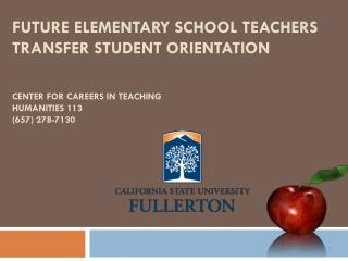 About the Center for Careers in Teaching (CCT)