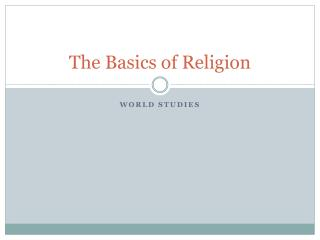 The Basics of Religion