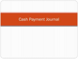 Cash Payment Journal