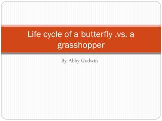 Life cycle of a butterfly .vs. a grasshopper