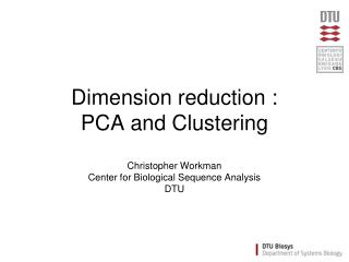 Dimension reduction : PCA and Clustering