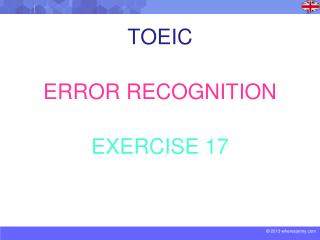 TOEIC ERROR RECOGNITION EXERCISE 17