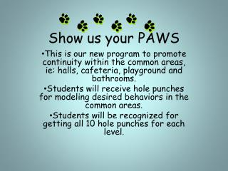 Show us your PAWS