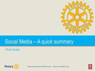 Social Media – A quick summary