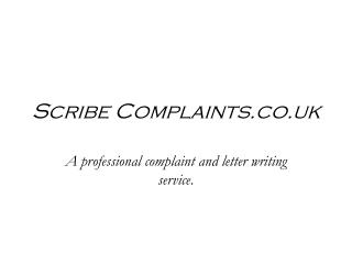 Scribe Complaints.co.uk