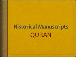 Historical Manuscripts