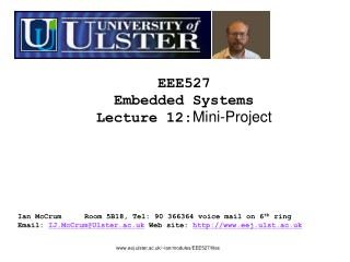 EEE527 Embedded Systems Lecture  12: Mini-Project
