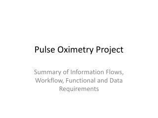Pulse Oximetry Project