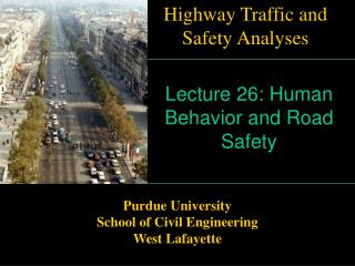 Human Behavior and Road Safety