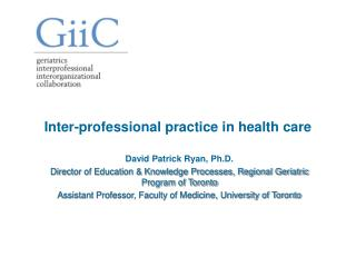 Inter-professional practice in health care