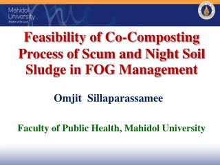 Feasibility of Co-Composting Process of Scum and Night Soil Sludge in FOG Management