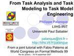 From Task Analysis and Task Modeling to Task Model Engineering