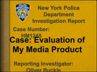 Case: Evaluation  of  My Media  Product