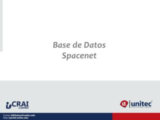 Base de Datos Spacenet