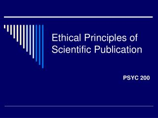 Ethical Principles of Scientific Publication