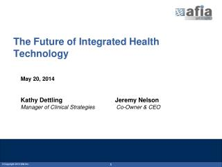 The Future of Integrated Health Technology