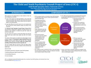 The Child and Youth Psychiatric Consult Project of Iowa (CYC-I)