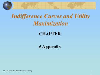 Indifference Curves and Utility Maximization