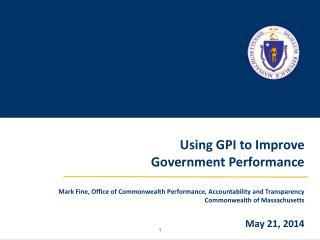 Using GPI to Improve  Government  Performance