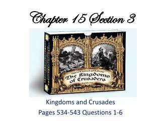 Chapter 15 Section 3