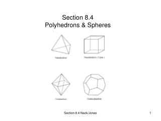 Section 8.4 Polyhedrons & Spheres