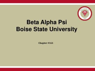 Beta Alpha Psi Boise State University