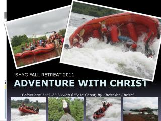 ADVENTURE WITH CHRIST