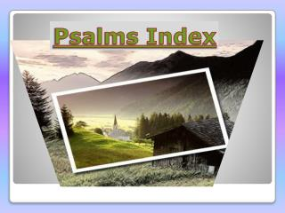 Psalms Index