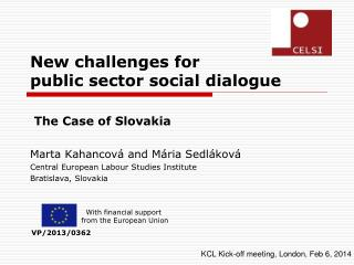 New challenges for               public sector social dialogue