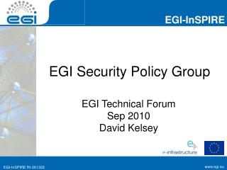 EGI Security Policy Group