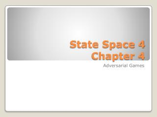 State Space 4 Chapter  4