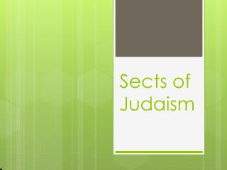 Sects of Judaism
