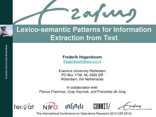 Lexico -semantic Patterns for Information Extraction from Text