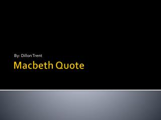 Macbeth Quote