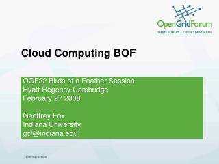 Cloud Computing BOF