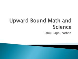 Upward Bound Math and Science