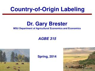 Country-of-Origin Labeling