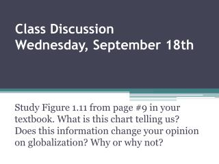 Class Discussion Wednesday,  September  18th