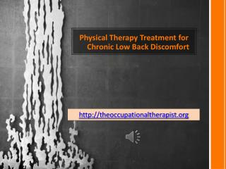 Physical Therapy Treatment for Chronic Low Back Discomfort